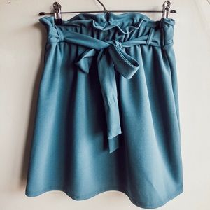 Blue Paperbag Skirt